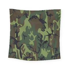 Military Camouflage Pattern Square Tapestry (small) by Simbadda