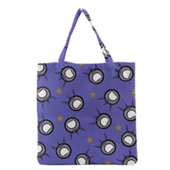 Rockets In The Blue Sky Surrounded Grocery Tote Bag by Simbadda