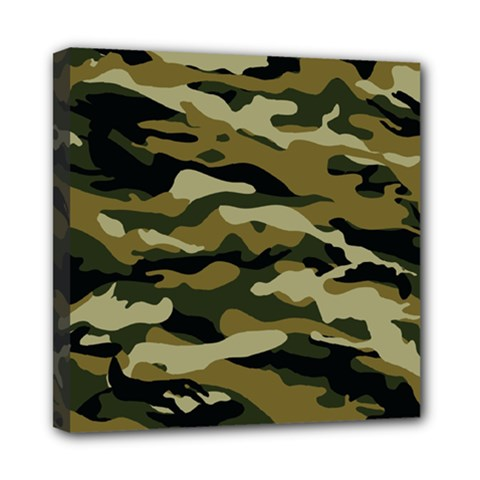 Military Vector Pattern Texture Mini Canvas 8  X 8  by Simbadda