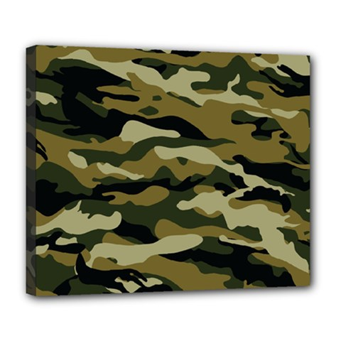 Military Vector Pattern Texture Deluxe Canvas 24  X 20   by Simbadda