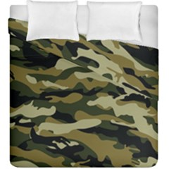 Military Vector Pattern Texture Duvet Cover Double Side (king Size) by Simbadda