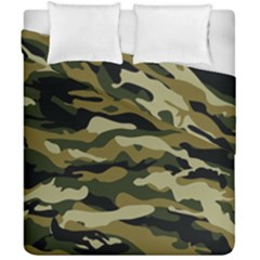 Military Vector Pattern Texture Duvet Cover Double Side (california King Size) by Simbadda