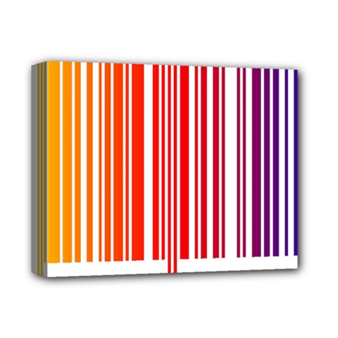 Colorful Gradient Barcode Deluxe Canvas 14  X 11  by Simbadda