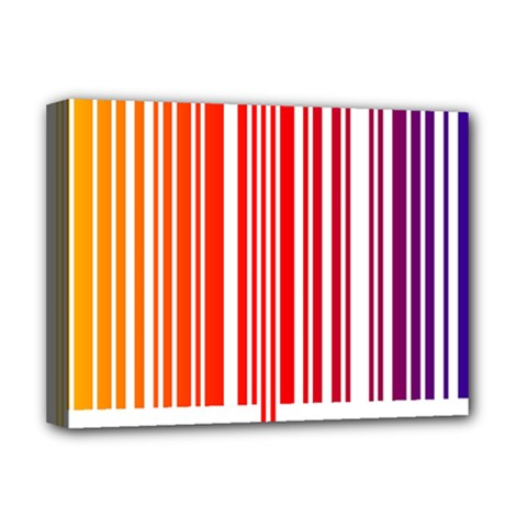 Colorful Gradient Barcode Deluxe Canvas 16  X 12   by Simbadda