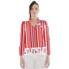 Colorful Gradient Barcode Wind Breaker (women) by Simbadda