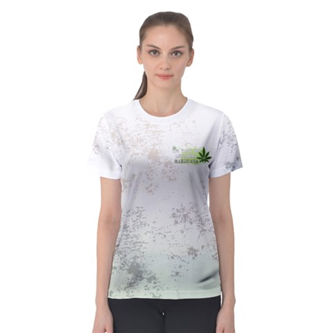 Cannabis Women s Sport Mesh Tee by PattyVilleDesigns