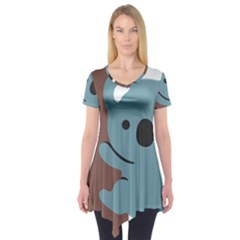 Animal Koala Short Sleeve Tunic  by Alisyart