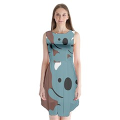 Animal Koala Sleeveless Chiffon Dress   by Alisyart