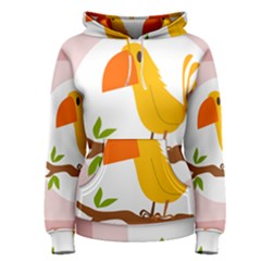 Yellow Bird Tweet Women s Pullover Hoodie
