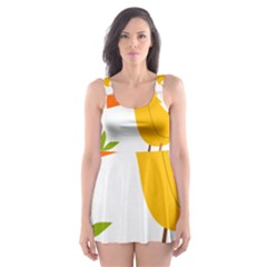 Yellow Bird Tweet Skater Dress Swimsuit by Alisyart
