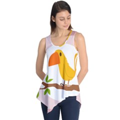 Yellow Bird Tweet Sleeveless Tunic