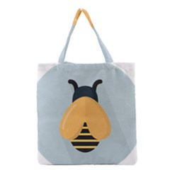 Animals Bee Wasp Black Yellow Fly Grocery Tote Bag by Alisyart