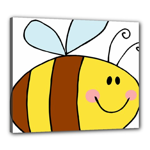 Animals Bee Wasp Smile Face Canvas 24  X 20