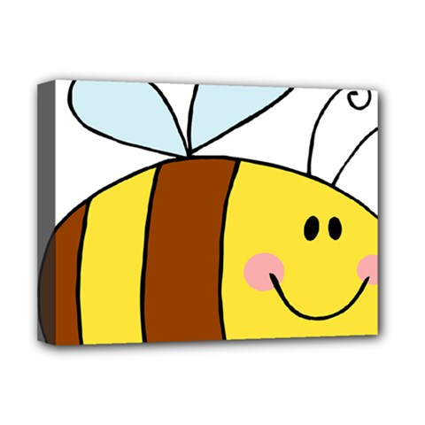Animals Bee Wasp Smile Face Deluxe Canvas 16  X 12
