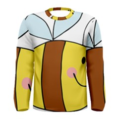 Animals Bee Wasp Smile Face Men s Long Sleeve Tee