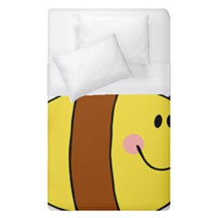 Animals Bee Wasp Smile Face Duvet Cover (single Size) by Alisyart