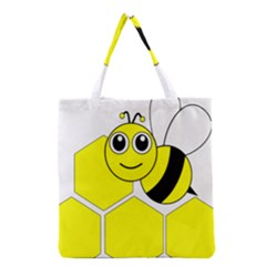 Bee Wasp Yellow Grocery Tote Bag by Alisyart