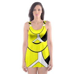 Bee Wasp Yellow Skater Dress Swimsuit by Alisyart