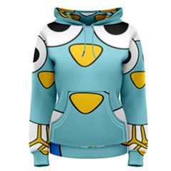 Bird Big Eyes Blue Women s Pullover Hoodie