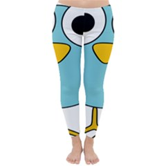Bird Big Eyes Blue Classic Winter Leggings