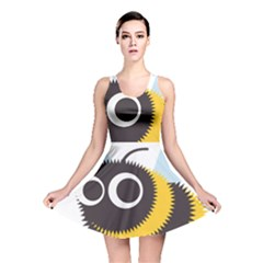 Bee Wasp Face Sinister Eye Fly Reversible Skater Dress