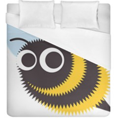 Bee Wasp Face Sinister Eye Fly Duvet Cover (king Size) by Alisyart