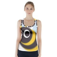 Bee Wasp Face Sinister Eye Fly Racer Back Sports Top by Alisyart