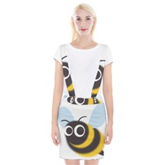 Bee Wasp Face Sinister Eye Fly Suspender Skirt