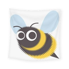 Bee Wasp Face Sinister Eye Fly Square Tapestry (small) by Alisyart