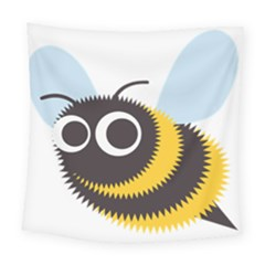 Bee Wasp Face Sinister Eye Fly Square Tapestry (large)
