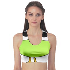 Bird Big Eyes Green Sports Bra by Alisyart