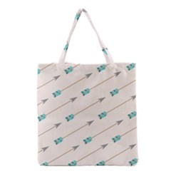 Arrow Quilt Grocery Tote Bag by Alisyart