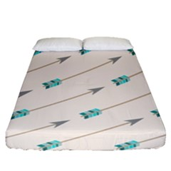 Arrow Quilt Fitted Sheet (queen Size)