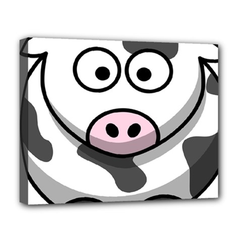 Animals Cow  Face Cute Deluxe Canvas 20  X 16