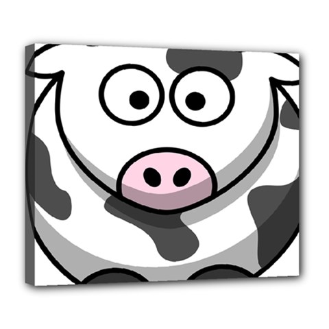 Animals Cow  Face Cute Deluxe Canvas 24  X 20   by Alisyart