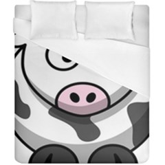 Animals Cow  Face Cute Duvet Cover (california King Size) by Alisyart