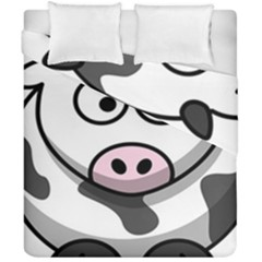 Animals Cow  Face Cute Duvet Cover Double Side (california King Size) by Alisyart