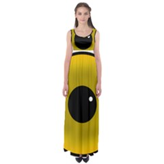 Big Eye Red Black Empire Waist Maxi Dress
