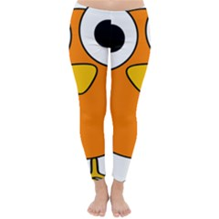 Bird Big Eyes Orange Classic Winter Leggings