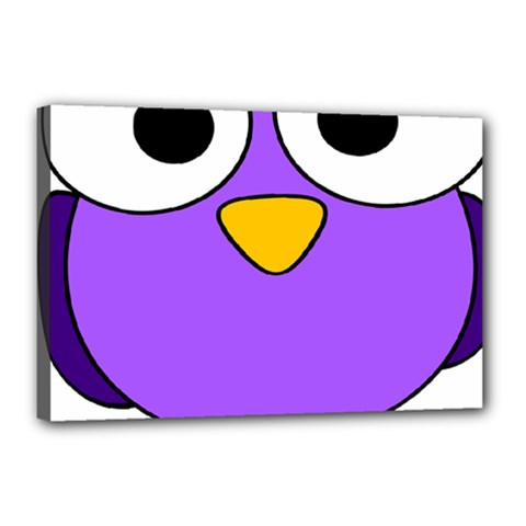 Bird Big Eyes Purple Canvas 18  X 12
