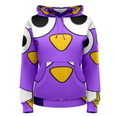 Bird Big Eyes Purple Women s Pullover Hoodie