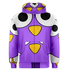 Bird Big Eyes Purple Men s Zipper Hoodie