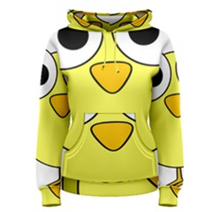 Bird Big Eyes Yellow Green Women s Pullover Hoodie