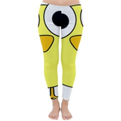 Bird Big Eyes Yellow Green Classic Winter Leggings