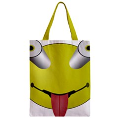 Bug Eye Tounge Zipper Classic Tote Bag