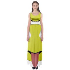 Bug Eye Tounge Empire Waist Maxi Dress
