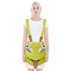 Bug Eye Tounge Suspender Skirt