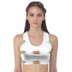 Boom Pow Pop Sign Sports Bra