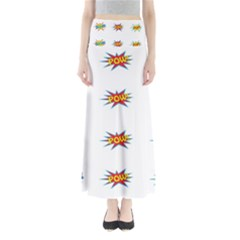 Boom Pow Pop Sign Maxi Skirts by Alisyart