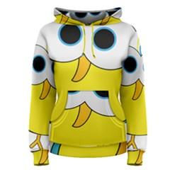Bird Big Eyes Yellow Women s Pullover Hoodie